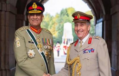 Pakistan Army Chief meets British Chief of Defence Staff in London