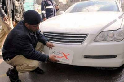 Crackdown against illegal number plates