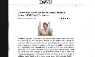 Fake News about Maryam Nawaz circulated on social media