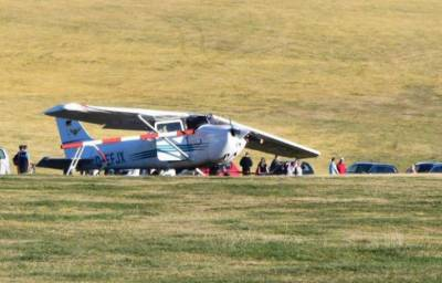 Plane crashes into a crowd at airfield