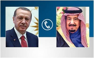 Saudi King Salman, Turkish President Tayyip Erdogan hold important telephone talk