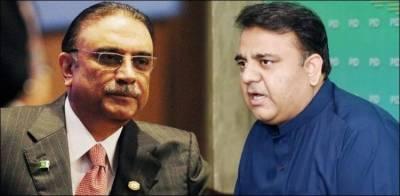 Information Minister Fawad Chaudhry hits back and taunts at Asif Zardari