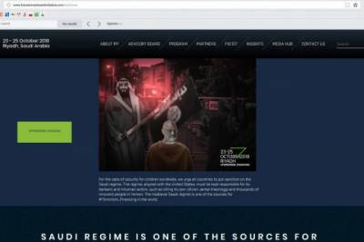 Saudi Future Investment Conference website hacked with images of Crown Prince executing Khashoggi
