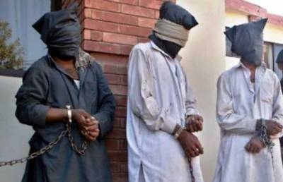 Three terrorists arrested with explosive material