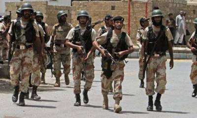Rangers arrest 10 accused from different parts of city