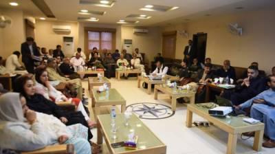 Bilawal chairs meeting regarding dev projects in Larkana