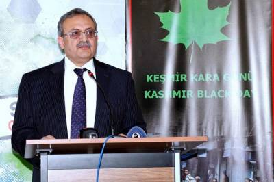 Turks reiterate support for Kashmiris' right to self determination