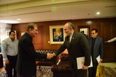Iranian Ambassador holds meeting with Foreign Minister Qureshi