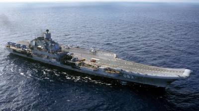 Russia's only Aircraft carrier damaged