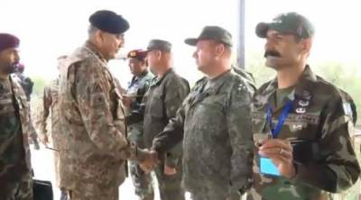 Army Chief visits Pak-Russia joint exercise in Pabbi