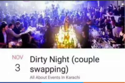 Dirty night couple swapping event manager arrested in Pakistan