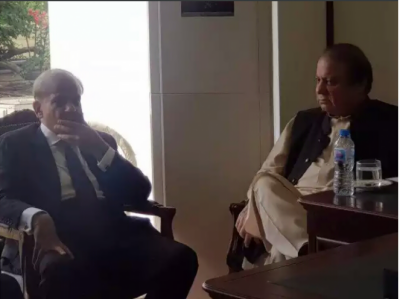 Nawaz Sharif holds meeting with Shahbaz Sharif in Ministers enclave Islamabad