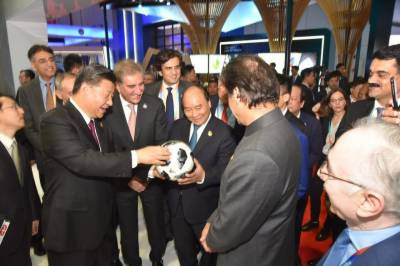 Russian PM visits Pakistani pavilion in International Import expo in Shanghai