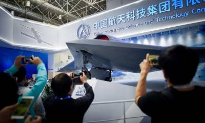 China unleashes stealth combat drones