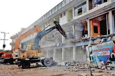 Grand anti encroachment operation in full swing in Karachi