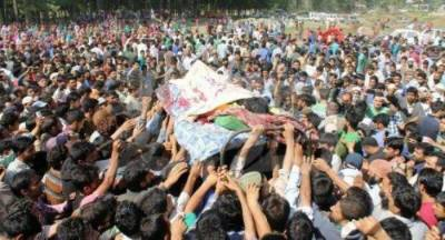 Thousands attend funeral prayers of martyred youth in Pulwama