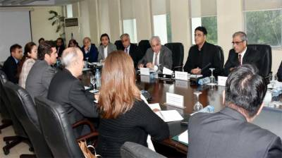 Federal Minister Asad Umar briefs IMF over PTI government vision
