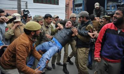 Indian police arrest woman, two brothers in Srinagar