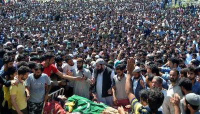 Thousands attend funeral prayers of martyrs in IOK