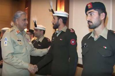 COAS General Bajwa meets Pakistan Army team winner of international exercise gold medal
