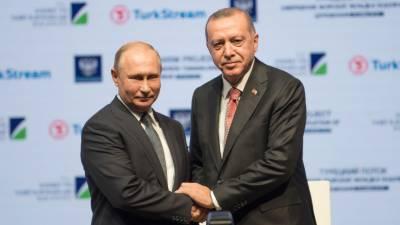 Erdogan, Putin celebrate key step in Russia-Turkey gas pipeline