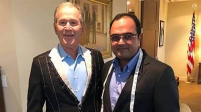 Pakistani tailor Sarfraz Akbar wins heart of former US President GW Bush