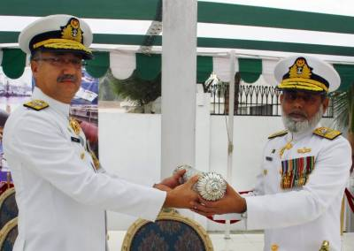 Rear Admiral Adnan Khaliq takes charge of Logistic Command of Pakistan Navy