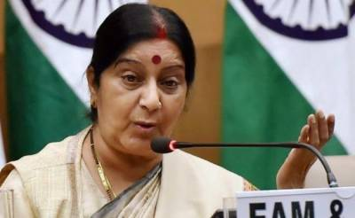 Embarrassed Sushma Swaraj sends a message to Pakistan PM Imran Khan