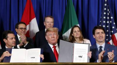 Trump signs new Trade Deal with Canada and Mexico