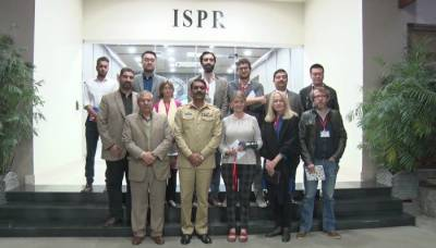 DG ISPR briefs foreign media representatives in Pakistan