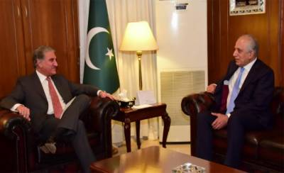 What messgae US special envoy Zalmay Khalilzad delivered to Pakistan's FM Qureshi?