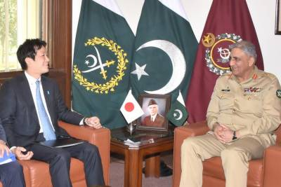 Japan National Security Advisor meets Pakistan Army Chief at GHQ