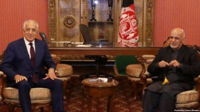 Afghan President hold talks with US envoy Zalmay Khalilzad