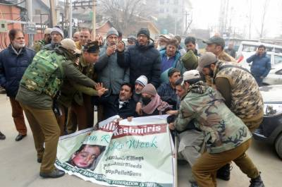 Hurriyat leaders condemn crack down in Occupied Kashmir