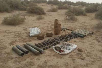 FC Balochistan seize huge cache of Arms and Ammunitions