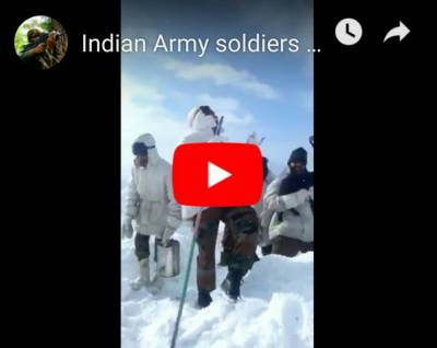 (VIDEO): Indian Army soldiers at Siachen dancing on famous Pakistani Song