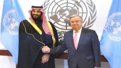 UNSG, Saudi Crown Prince discuss latest developments in Yemen