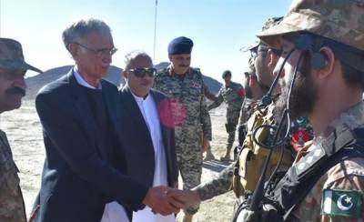 Defence Minister visit Pakistan Afghanistan border fencing in South Waziristan
