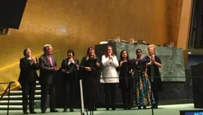 Late Asma Jehangir wins prestigious UN award, Her daughter Munizae received the award