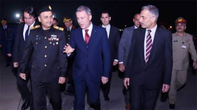 Turkish Defence Minister arrives in Islamabad on two-day visit