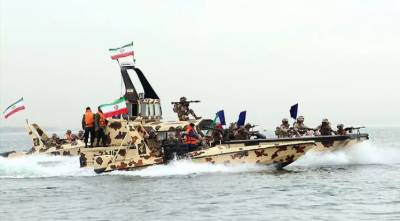 Iran's Islamic Revolutionary Guard Corps launched large military maneuvers in Persian Gulf