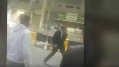 Major General Asim Ghafoor clicked playing cricket on the roads of Karachi