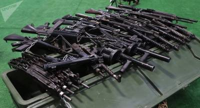 Huge cache of US and Israeli made weapons recovered from terrorists in Syria