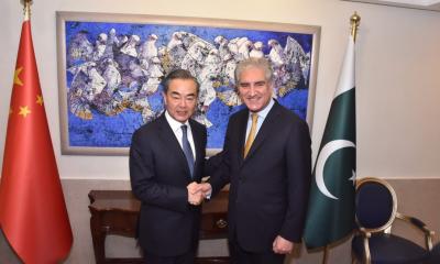 FM Qureshi, Chinese FM Wang Yi discuss bilateral relations