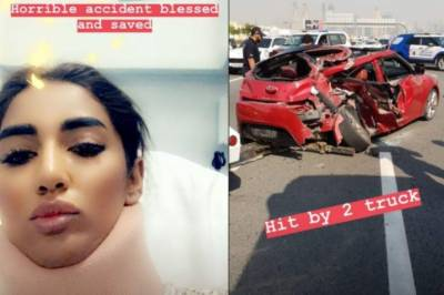 Controversial star Mathira hit with a horrible car crash