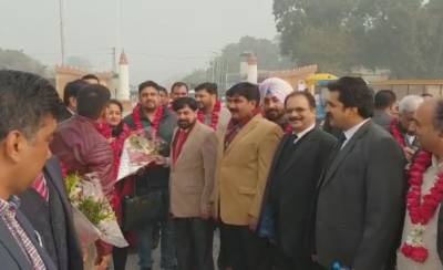 32 member Indian Lawyers delegation arrives in Lahore