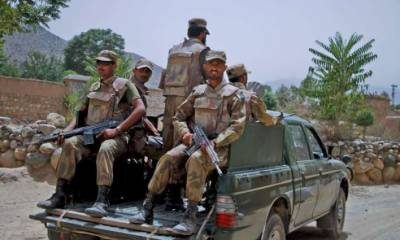 Four terrorists shot down as they attempt to enter FC compound in Loralai
