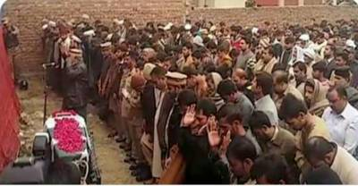 Funeral Prayers of martyred Pak Army soldiers offered