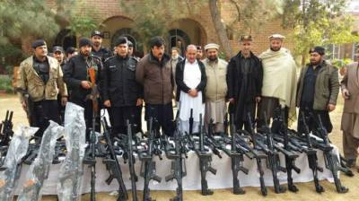 Huge cache of weapons seized being transported from Afghanistan to Pakistan