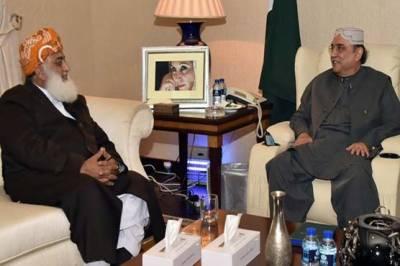 Moulana Fazal ur Rehman meets Asif Zardari twice in 24 hours, A secret Mission